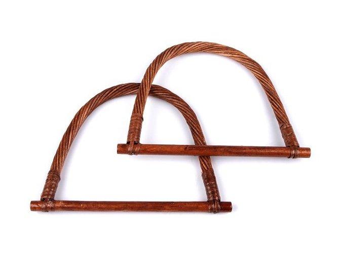 Ucha na tašky bambusová 13x18cm - 2 kusy / hnědá
