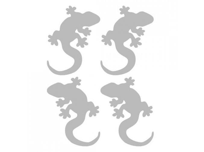 Reflexní nažehlovací potisk - ještěrky (4 kusy)