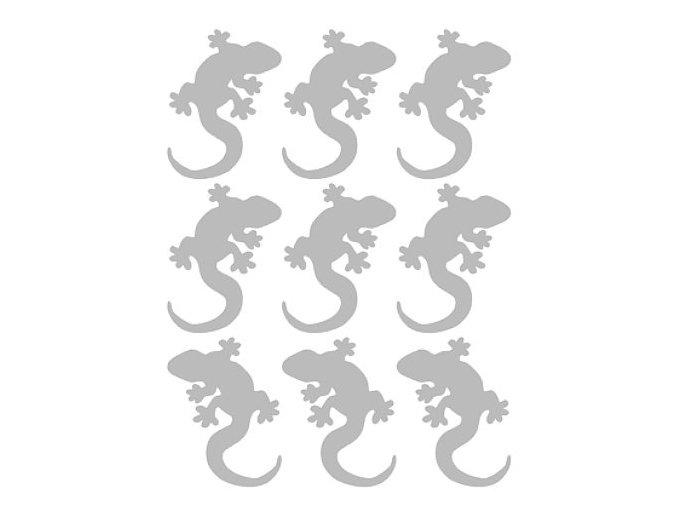 Reflexní nažehlovací potisk - ještěrky (9 kusů)