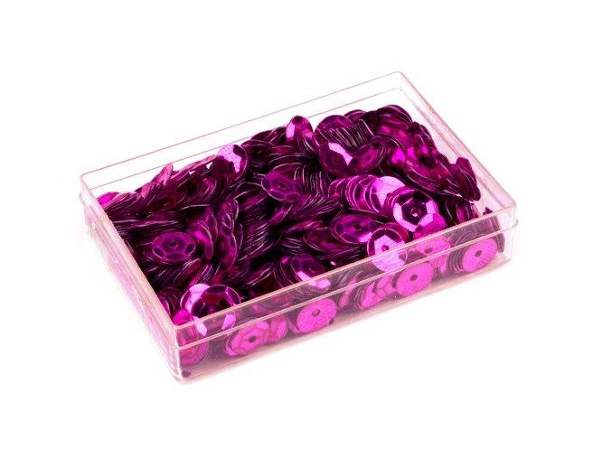 Flitry Ø6mm v krabičce 7g  - fialovorůžové