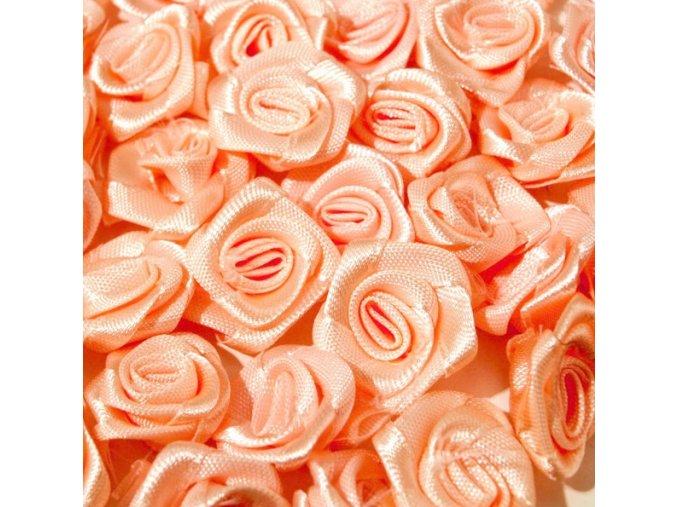 Růžička saténová Ø 10-12mm (10 kusů) - meruňková
