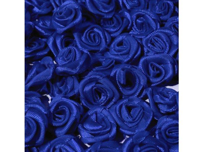 Růžička saténová Ø 10-12mm (10 kusů) - modrá
