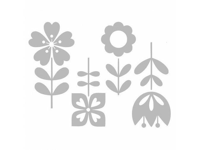Reflexní nažehlovací potisk - květiny (4 kusy)