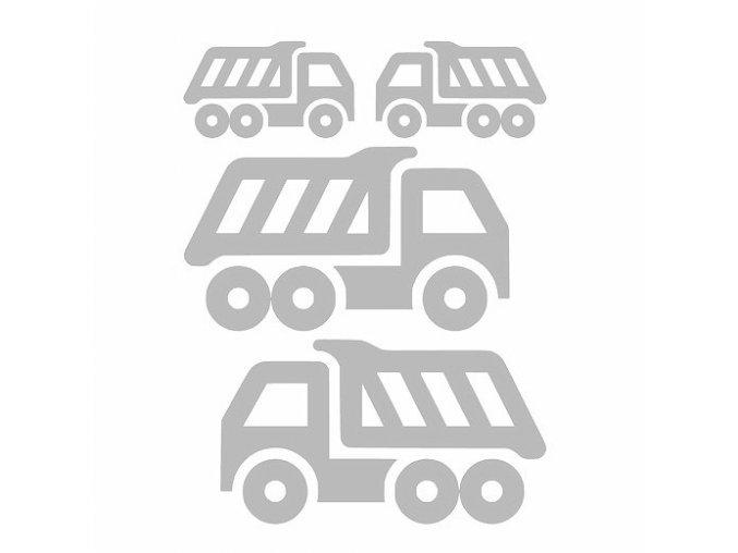 Reflexní nažehlovací potisk - nákladní auto (4kusy)