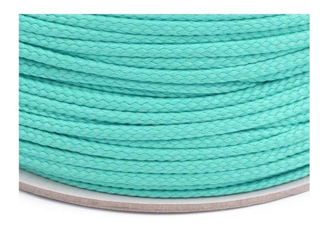 Oděvní šňůra PES Ø 4mm - akvamarínová
