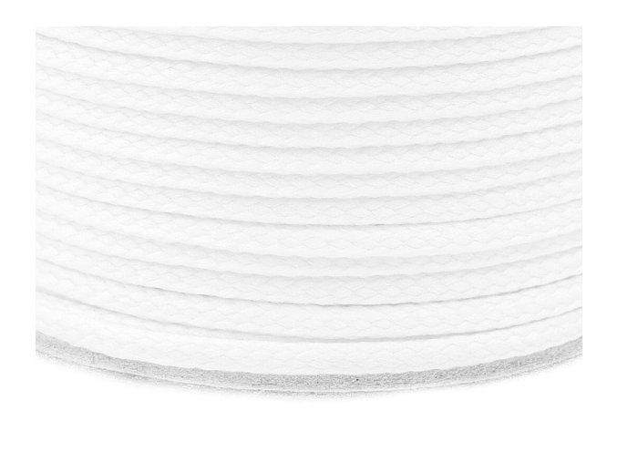 Oděvní šňůra PES Ø 4mm - bílá