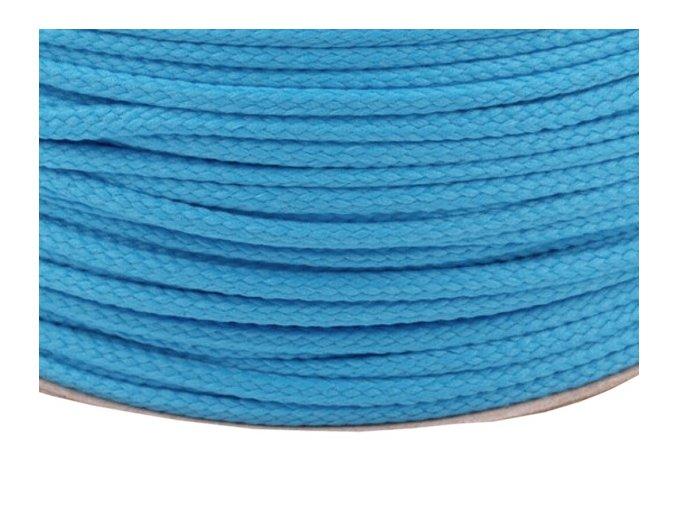 Oděvní šňůra PES OE 4mm - kalifornská modř