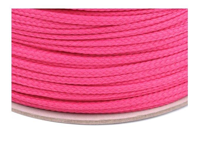 Oděvní šňůra PES Ø 4mm - růžová tmavá