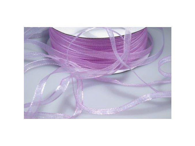 Šifónová stuha šířka 3 mm - fialová světlá (5m)