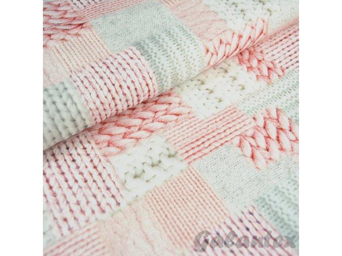 Dekorační látka Pletený patchwork