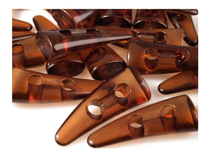 Knoflíky plastové Rohy 40mm - hnědé