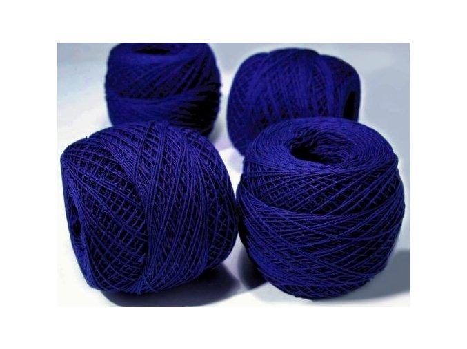 Háčkovací příze Kordonet 30 / 5594 - tm. modrá