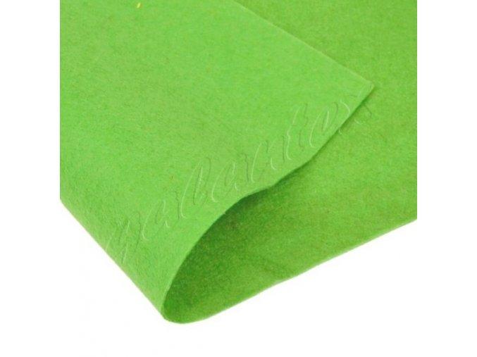Dekorativní plsť 20x30cm 165g-m² - sv. zelená