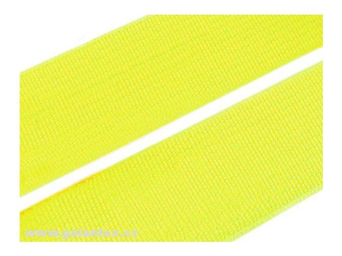 Pruženka plochá tkaná 21mm - žlutá