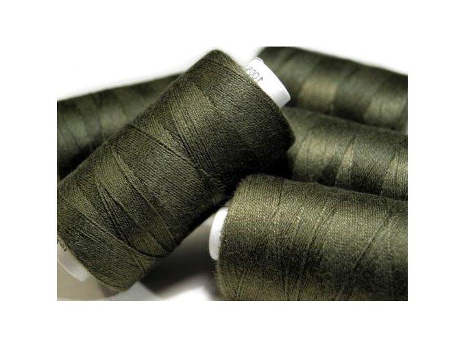 Nitě riflové UNIPOLY 30 návin 200m / 688 - temně olivová