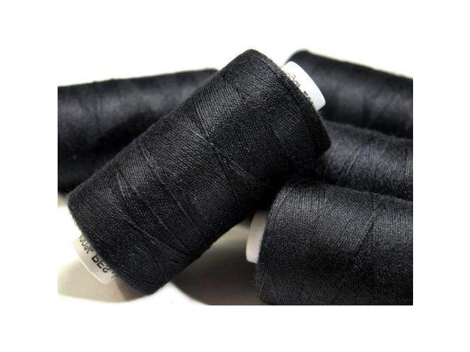 Nitě riflové UNIPOLY 30 návin 200m / 999 - černá
