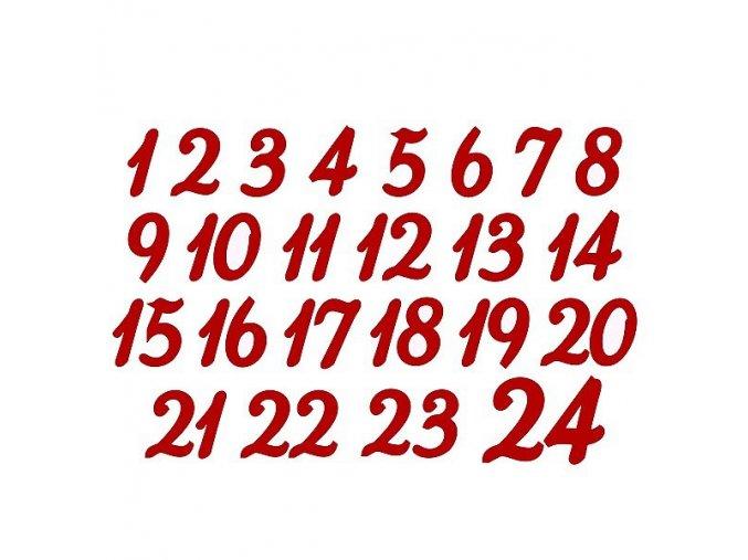 Nažehlovací potisk - adventní čísla