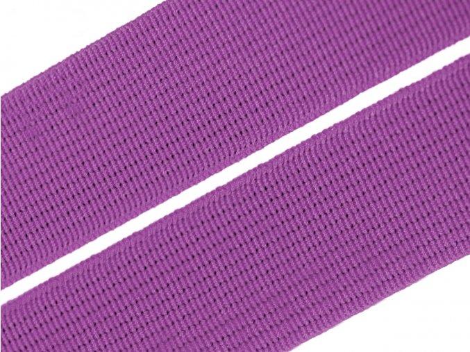 Pruženka plochá tkaná 21mm - fialová