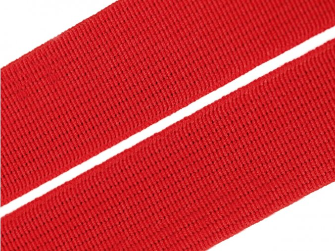 Pruženka plochá tkaná 21mm - červená