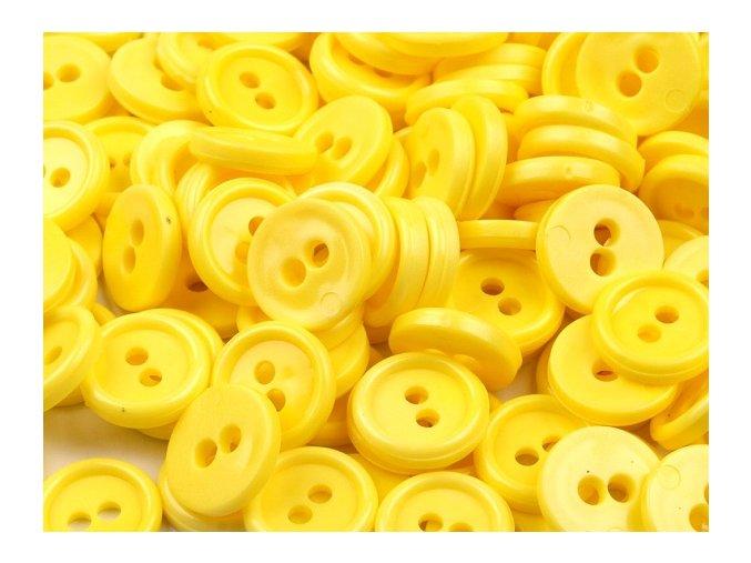 """Knoflík košilový 18"""" - žlutý (10ks)"""