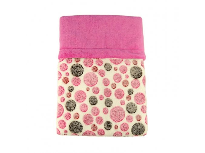 Dvojitá deka coral fleece - Bubliny růžové