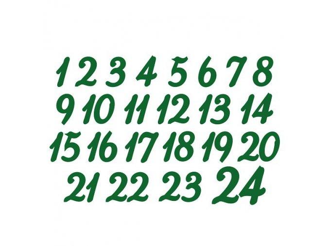 Sametový nažehlovací potisk - adventní čísla