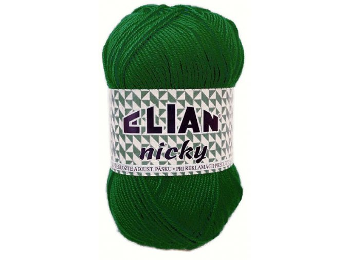Pletací příze Elian Nicky / 10026 - tm. zelená