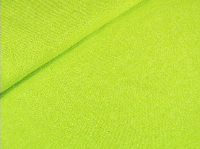 Svetrovina melír - žlutozelená neon