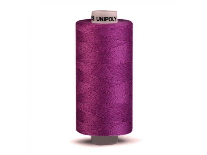 Polyesterová šicí nit Unipoly 120/500m / 447 - fialová