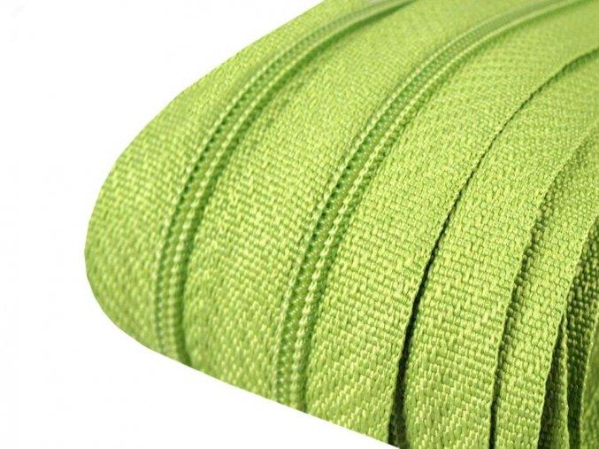 Zip spirálový 3 mm metráž - zelený
