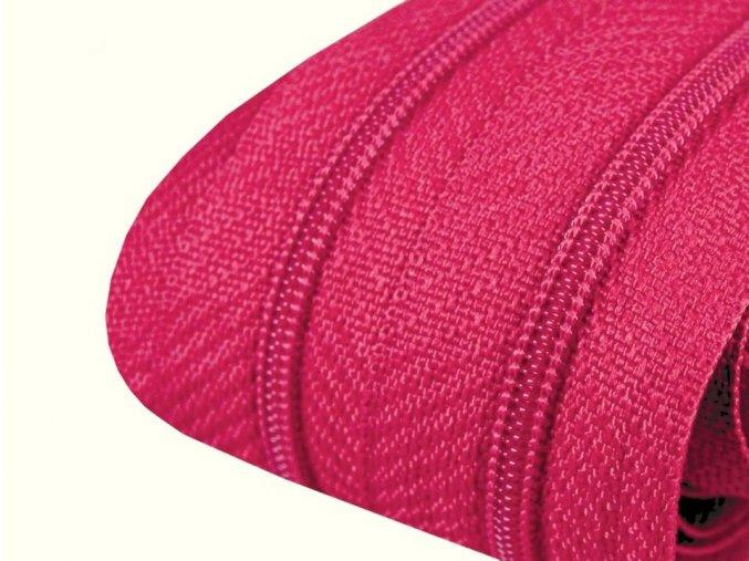 Zip spirálový 3 mm metráž - růžový tmavý