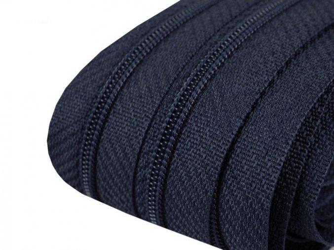 Zip spirálový 3 mm metráž - modrý tmavý