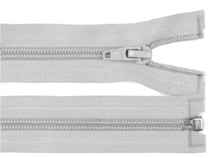 Zip spirálový dělitelný 5 mm / 45 cm - šedý světlý