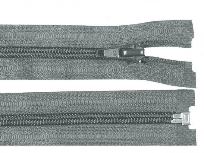 Zip spirálový dělitelný 5 mm / 45 cm - šedý