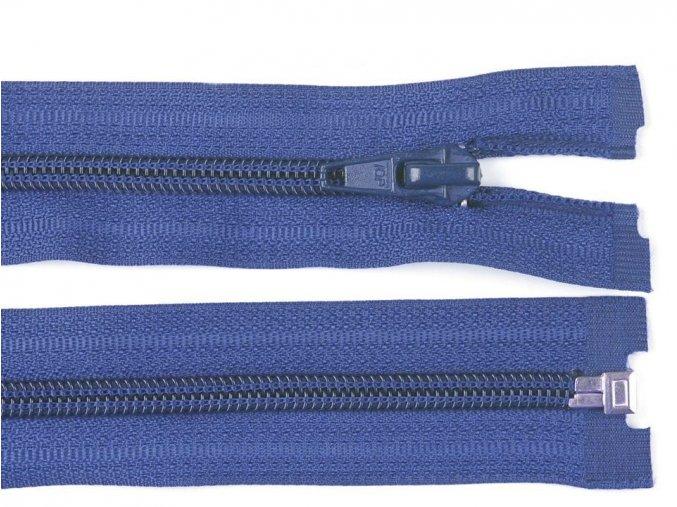 Zip spirálový dělitelný 5 mm / 45 cm - modrý