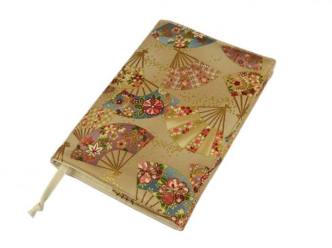 Nastavitelný obal na knihu - Vějíře zlatotisk