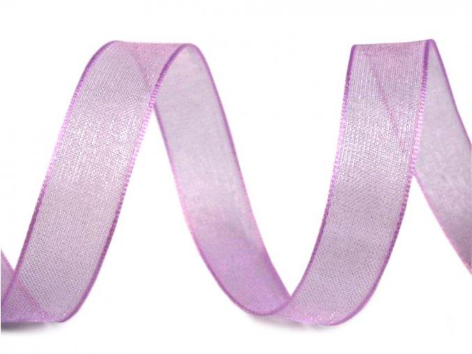 Šifónová stuha šířka 12 mm - fialová světlá