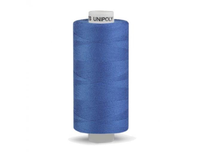 Šicí nit Unipoly 120 návin 500 m / 554 - střední modrá
