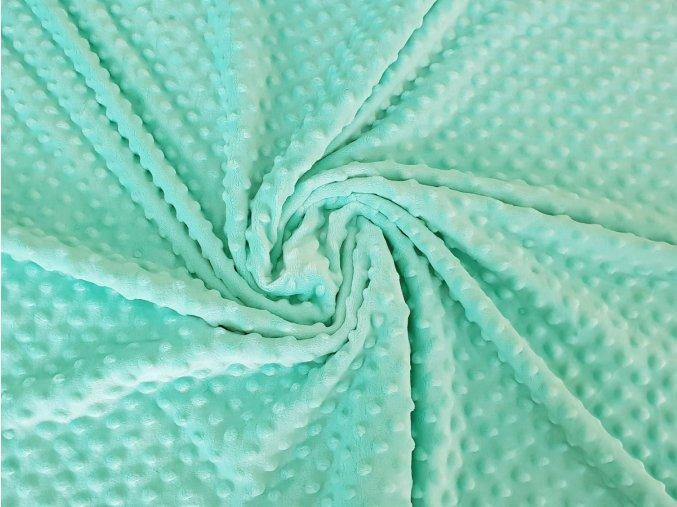 Minky s vytlačovanými puntíky - mentol