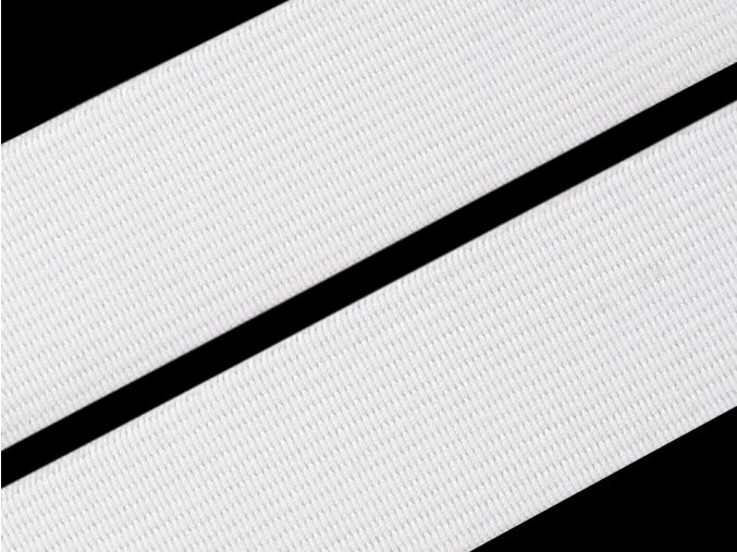Pruženka plochá 30 mm - bílá