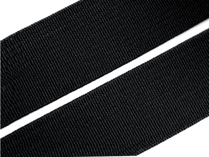 Pruženka plochá 30 mm - černá