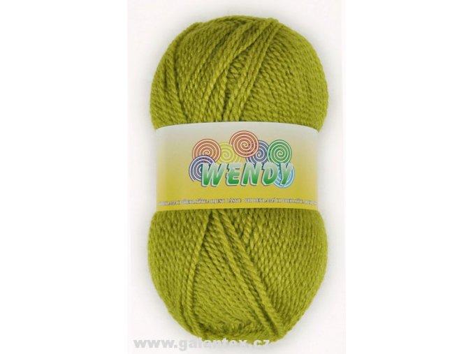 Pletací příze Wendy / 1054 - žlutozelená