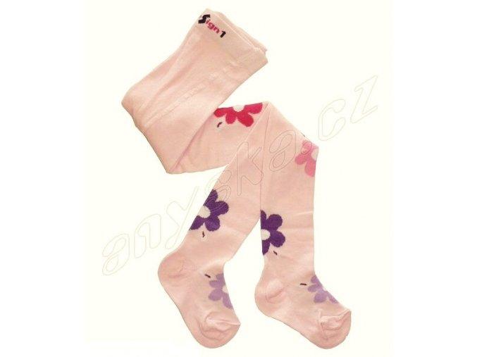 Dětské punčocháče s vůní květy - růžové