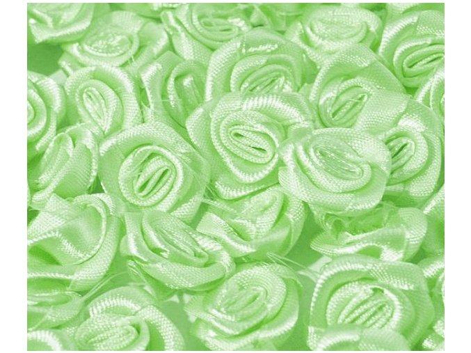 Růžička saténová OE 10-12mm (10 kusů) - zelenkavá