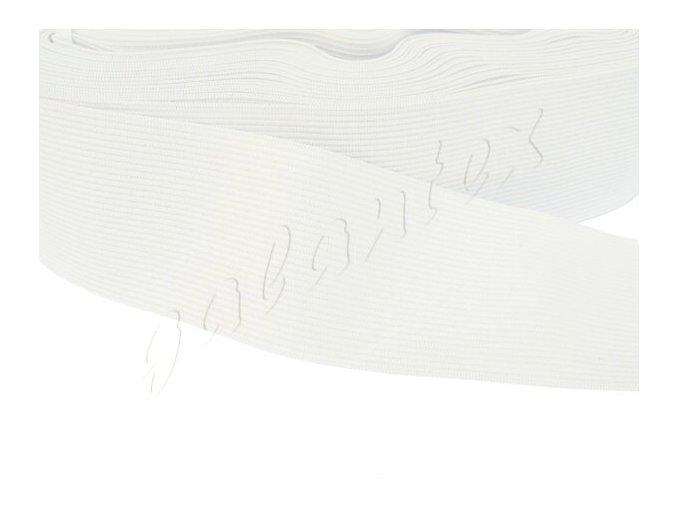 Pruženka plochá pletená 50mm - bílá