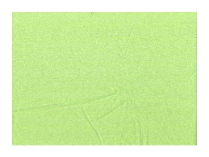 Jednolícní elastický úplet - zelená světlá
