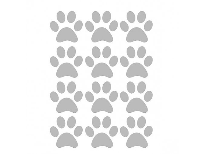 Reflexní nažehlovací potisk - tlapky (12 kusů)