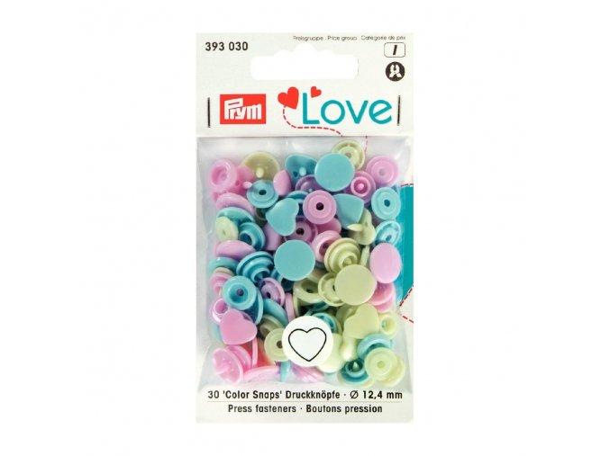 """Patentky """"Color snaps"""" PRYM LOVE - srdíčka 030"""