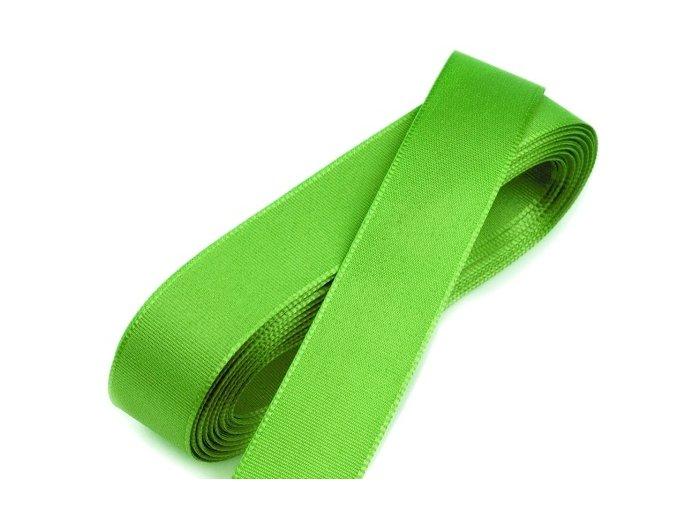 Taftová stuha - šířka 20 mm x 10 m / 307 - zelená jarní