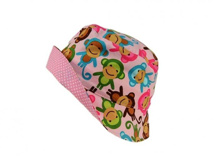Letní klobouk opice na růžové